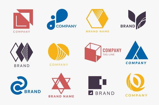 Company branding logo designs vector collection